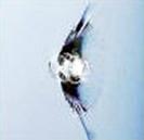 フロントガラス傷の例